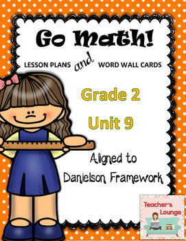 Go Math Lesson Plans  Unit 9 - Word Wall Cards - EDITABLE