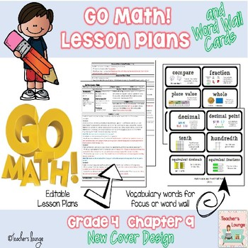 Go Math Lesson Plans Unit 9 - Word Wall Cards - EDITABLE - Grade 4
