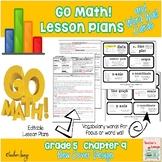 Go Math Lesson Plans Unit 9 - Word Wall Cards - EDITABLE - Grade 5