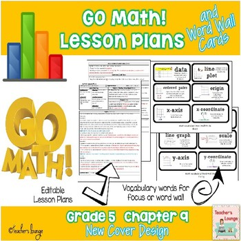 Go Math Lesson Plans Unit 9 - Word Wall Cards - EDITABLE - Grade 5