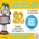 Go Math Lesson Plans Units 1-11 - Word Wall Cards - EDITABLE - Grade 5