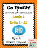 Go Math Lesson Plans Units 1-11 - Word Wall Cards - EDITABLE - Grade 2