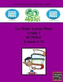 Go Math Lesson Plans Units 1-12 - Word Wall Cards - EDITABLE - Grade 3
