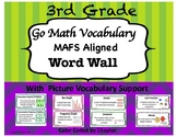 Go Math MAFS Aligned Vocabulary Cards (3rd Grade)