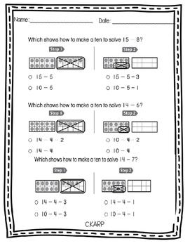 Go Math! Make a Ten to Subtract