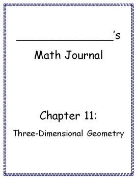 Go Math - Math Journal - Chapter 11