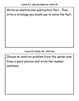 Go Math - Math Journal - Chapter 8