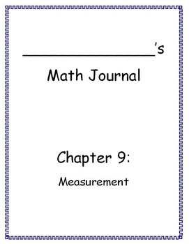 Go Math - Math Journal - Chapter 9