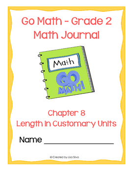 Go Math! Math Journal - Grade 2 - Chapter 8