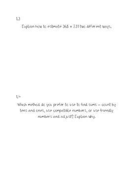 Go Math Math Journals