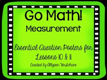 Go Math! Measurement Essential Question Posters