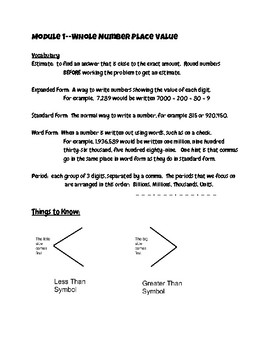 Go Math Module 1 Notes for students and parents