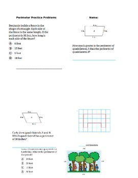 Go Math Module 18 Perimeter Practice Problems
