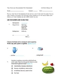 Go Math Module 18: Time, Mass and Measurement Pre-Assessment