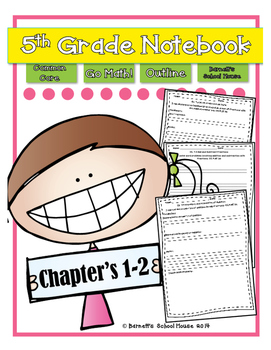 Go Math! Notebook 5th Grade CC and I Can Statements Chapter 1 & 2