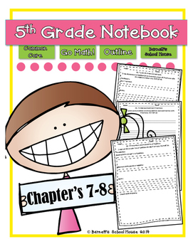 Go Math! Notebook 5th Grade CC and I Can Statements Chapter 7 & 8
