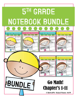 Go Math! Notebook BUNDLE 5th Grade {I Can Statements and CCSS}
