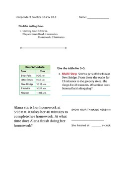 Go Math Perimeter Time practice lessons 18.2 and 18.3