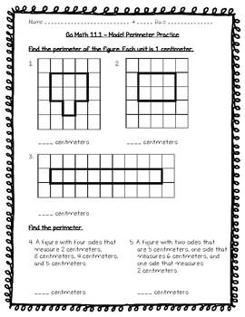 homework and practice 17.1 model perimeter