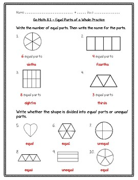 3rd grade whole fractions worksheets