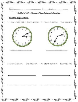 Go Math Practice - 3rd Grade Chapter 10 - Time, Length, Liquid Volume, and Mass