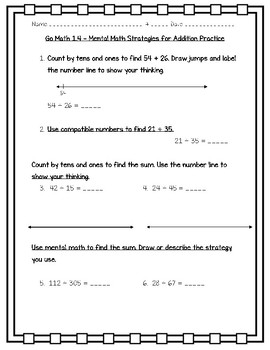 Go Math Practice - 3rd Grade Worksheets For Entire Year