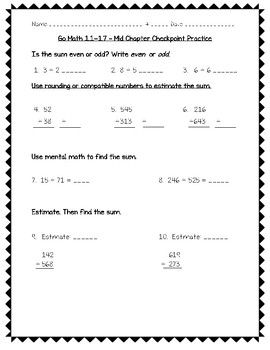 Go Math Practice - 3rd Grade Worksheets For Entire Year Bundle