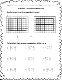 Go Math Practice - 4th Grade Chapter 6 - Fraction Equivale
