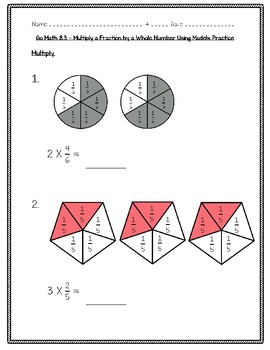 Go Math Practice - 4th Grade Chapter 8 - Multiply Fractions by Whole Numbers