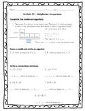 Go Math Practice 4th Grade 2.1 - Multiplication Comparisons Worksheet Freebie!