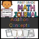 First Grade Addition Concepts Math Journal (Go Math Chapter 1)