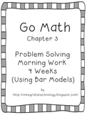 Go Math Problem Solving with a Bar Model Morning Work