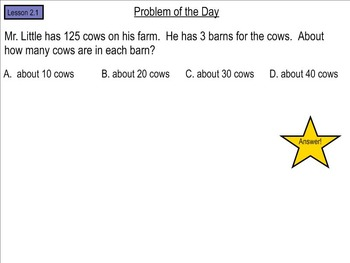 Go Math! Chapter 2 Problem of the Day, 5th Grade- SMART Board