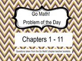 Go Math! Problem of the Day, BUNDLE, Chapters 1-11 5th Gra