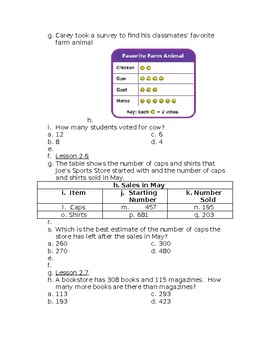Go Math! Problem of the Day Chapter 2 Grade 3