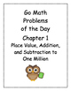Go Math! Problems of the Day, Grade 4 (multiple choice)