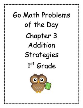 Go Math! Problems of the Day for 1st Grade Chapter 3