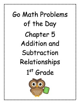Go Math! Problems of the Day for 1st Grade Chapter 5
