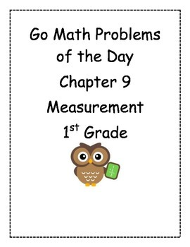 Go Math! Problems of the Day for 1st Grade Chapter 9