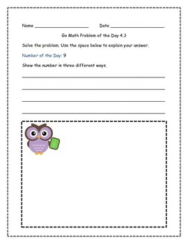 Go Math! Problems of the Day for 2nd Grade Chapter 4