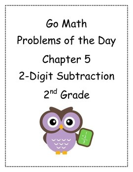 Go Math! Problems of the Day for 2nd Grade Chapter 5