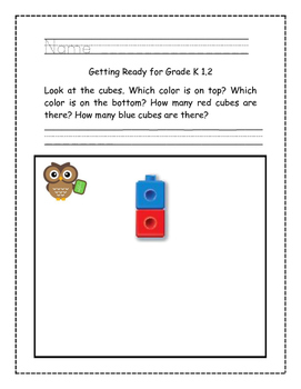 Go Math! Problems of the Day for Kindergarten Chapter 1