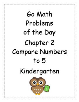 Go Math! Problems of the Day for Kindergarten Chapter 2