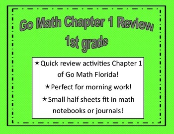 Go Math Quick Review Activities- Ch.1