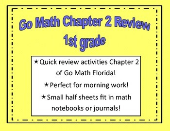 Go Math Quick Review Activities- Ch.2