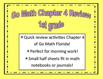 Go Math Quick Review Activities- Ch.4
