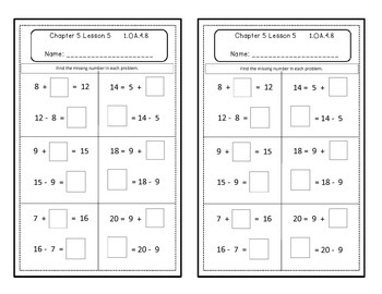 Go Math Quick Review Activities- Ch.5