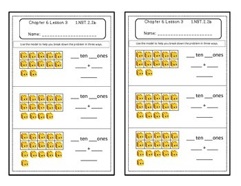 Go Math Quick Review Activities- Ch.6