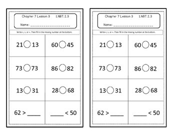 Go Math Quick Review Activities- Ch.7