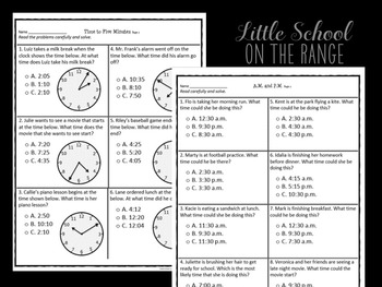 Go Math Second Grade: Chapter 18 Supplement - Time